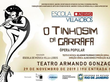 Teatro Armando Gonzaga terá ópera popular da Escola de Música Villa-Lobos