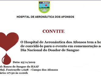 Hospital de Aeronáutica dos Afonsos comemora Dia Nacional do Doador de Sangue