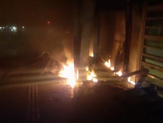 Duas estações do BRT incendiadas no fim de semana: prejuízos estimados são de R$ 500 mil