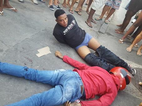PM reage a assalto em Realengo, prende um e baleia outro