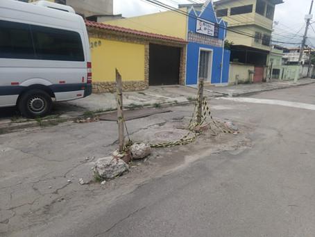 Prefeitura faz paleativo em dezembro e até hoje não terminou serviço em Realengo