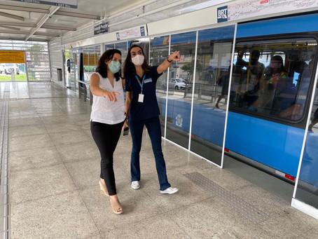 Estação BRT André Rocha, na Taquara, é reaberta