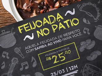 Shopping de Guadalupe promove 'Feijoada no Pátio' neste domingo