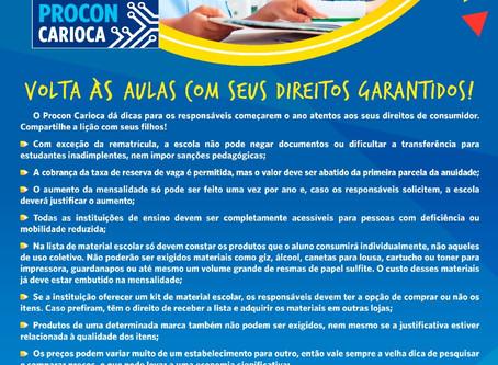 PROCON: Volta às aulas com direitos garantidos