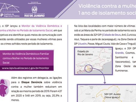 Mais de 250 mulheres foram vítimas de violência por dia durante o isolamento social em 2020
