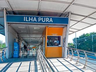 Fechada ontem após furto e vandalismo, estação Ilha Pura é reaberta
