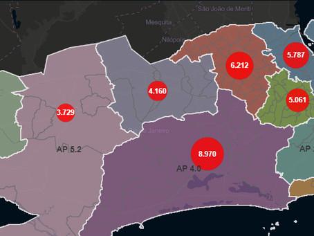 Rio tem 15 mil mortos, 170 mil casos de Covid-19 e com forte impacto na Zona Oeste