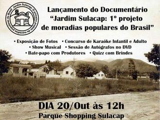 DVD do Documentário do Jardim Sulacap terá premiere em shopping do bairro