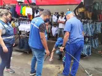 Operação desfaz ligações clandestinas de água e energia elétrica durante ação em Madureira
