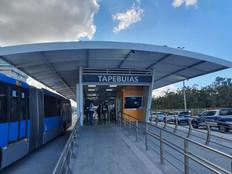Estação Tapebuias, no corredor Transolímpica, que estava fechada desde 2020 é reaberta