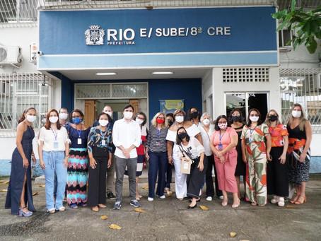 Secretário de Educação visita 8ª CRE e ouve demandas da região