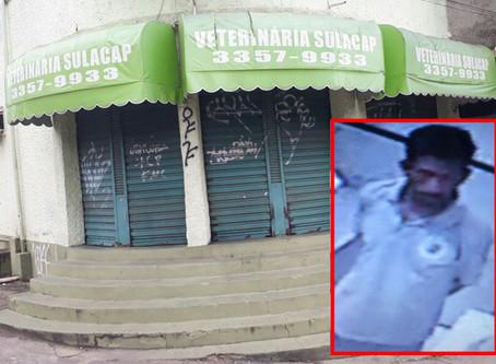 Bandido arromba veterinária de madrugada em Sulacap e leva notebook e dinheiro