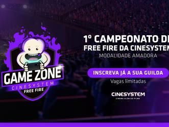 Cinesystem promove campeonato de Free Fire com mais de R$7 mil em premiações