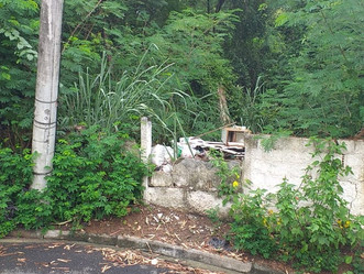 [ATUALIZAÇÃO] Moradores jogam lixo dentro do terreno do CFAP, por uma rua do Sobral