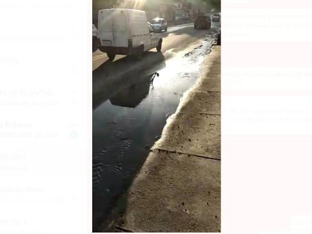 [VÍDEO] Vazamento na Rua Cairuçú, em Valqueire, atormenta moradores há anos