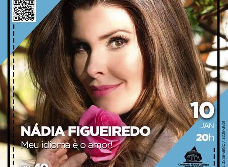 """Nádia Figueiredo realiza pocket show de """"Meu Idioma É o Amor"""", na Tijuca"""