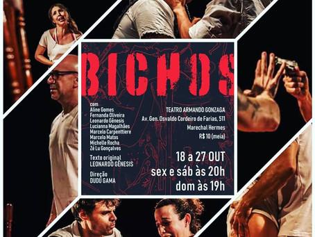 Espetáculo Bichos leva drama com humor ao Armando Gonzaga em Marechal Hermes