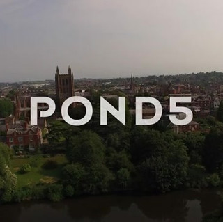 Hereford Cathedral Reveal Aerial Shot