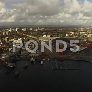 Cardiff City Bay Wide Aerial Shot