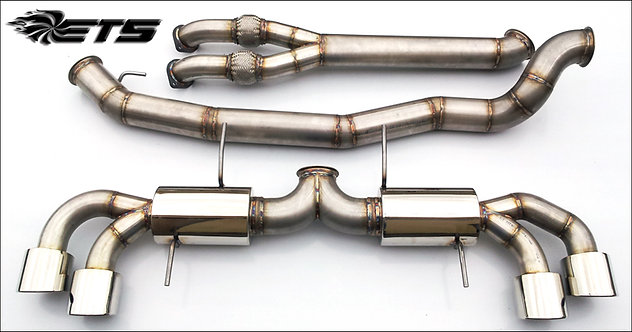 """ETS Nissan GTR 4.0"""" (102mm) Stainless Steel Exhaust System"""