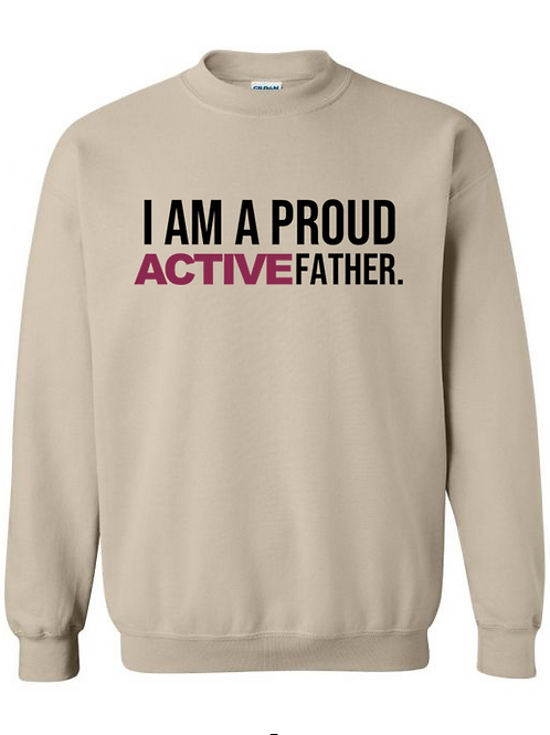 ACTIVE FATHER sweatshirt-Sand
