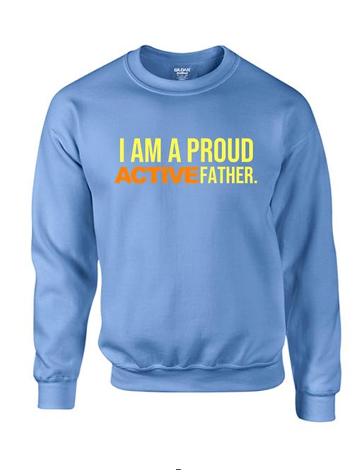 ACTIVE FATHER sweatshirt- Carolina blue