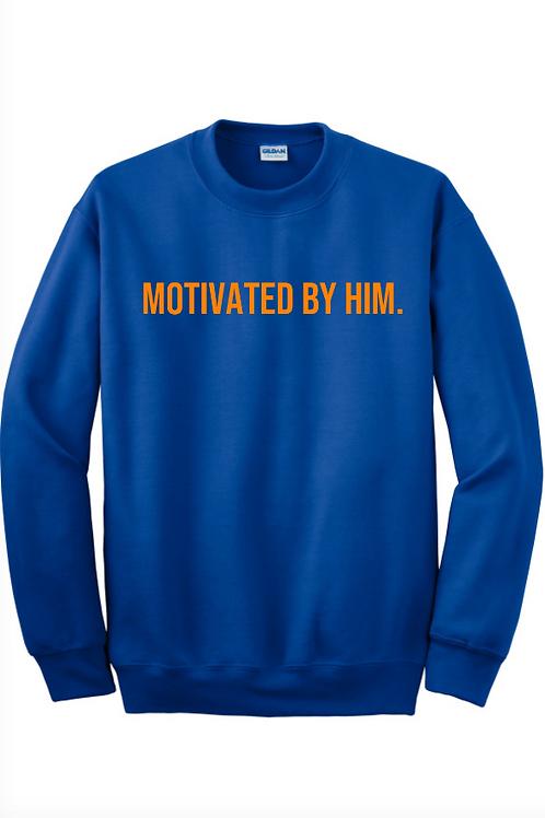 MOTIVATED Sweatshirt- Royal Blue