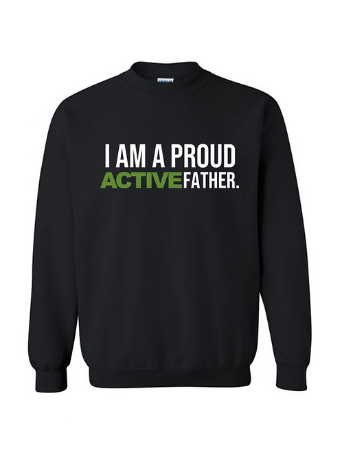 ACTIVE FATHER sweatshirt- Black