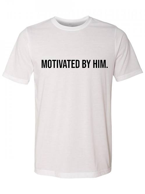 MOTIVATED Tee- White