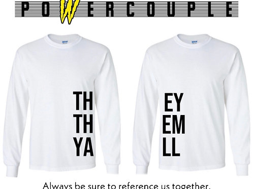 TOGETHER LS Tee (COMBO)- White