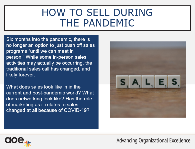 How to Sell During the Pandemic