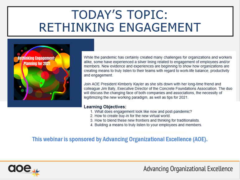 Rethinking Engagement: A discussion to guide our planning for 2021