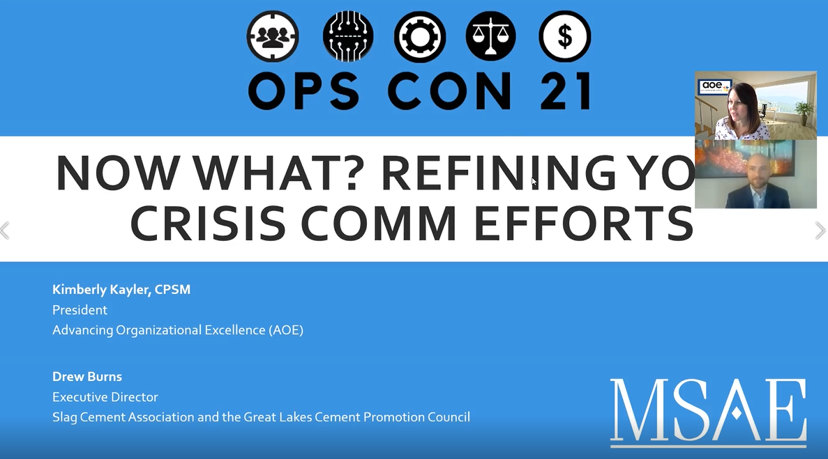 Now What? Refining Your Crisis Comm Efforts