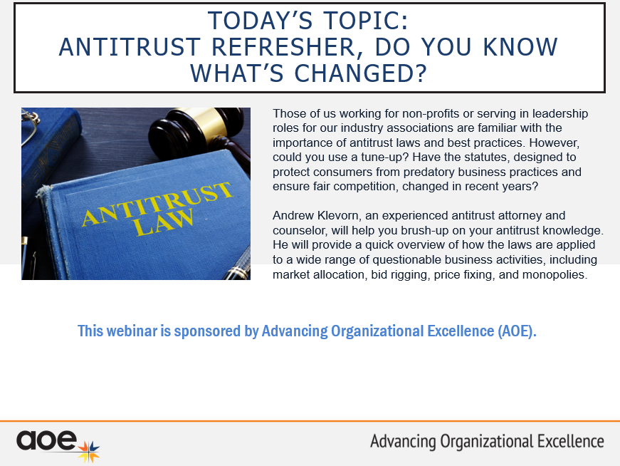 Antitrust Refresher, Do You Know What's Changed?