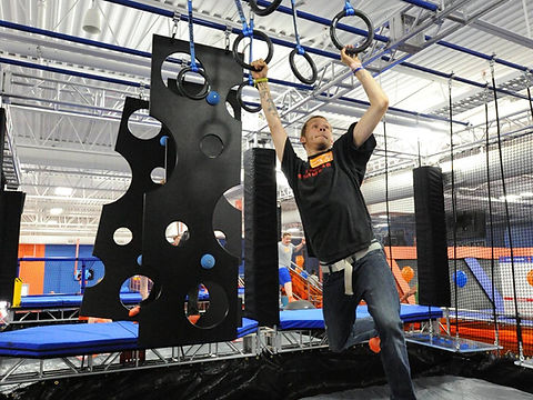 rings obstacle on ninja course