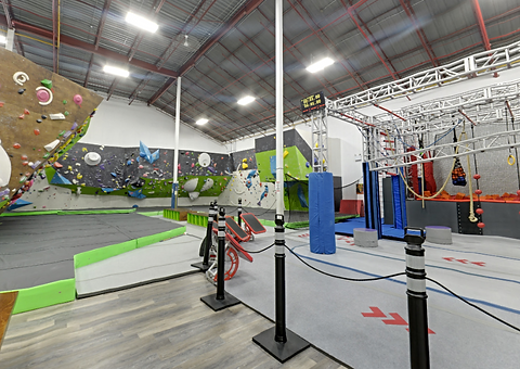 Apspire climbing gym interior shot