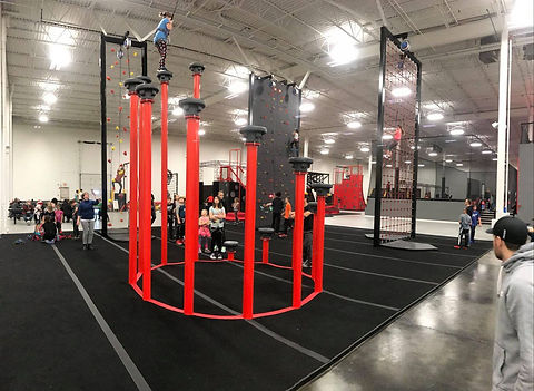 impact climbing installs pole walk obstacle