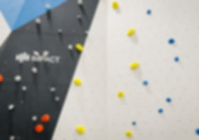 impact climbing wall with holds