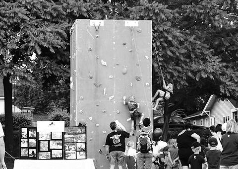 portable climbing wall designed by impact climbing