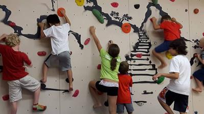 Kids Climbing on an IMPACT Adventure Wall