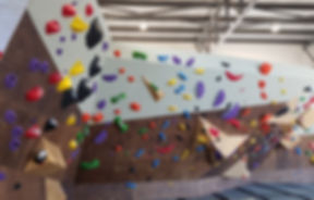 custom bouldering wall built by impact climbing