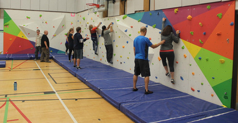 Large Bouldering Wall in School Gym