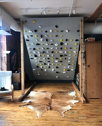 custom climbing panel with velvet grip texture