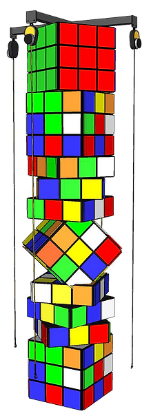 custom rubix cube climbing structure