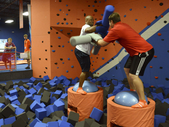 Climbing Wall over Foam Pit