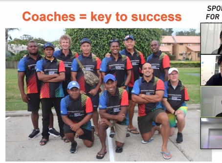 First Online Session for Oceania Coaches