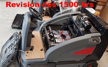 Révision balayeuse 1500 Hrs sav Gaomei France  Groupe Altecos meilleur balayeuse électrique 48 Volts