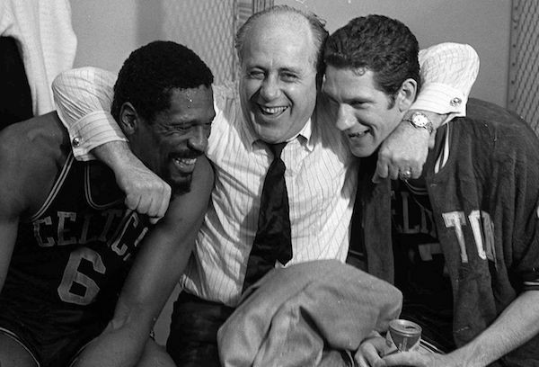 Bill Russell, Red Auerbach and John Havlicek