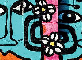 People and Flower Graffiti