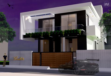 L house 3D